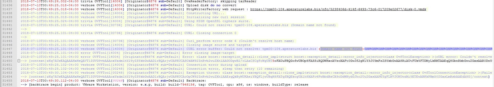 Curl error code